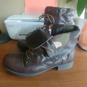 G by Guess women's combat boots